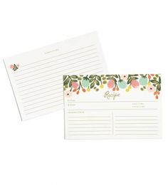 Hanging Garden Recipe Cards by RIFLE PAPER Co. | Made in USA