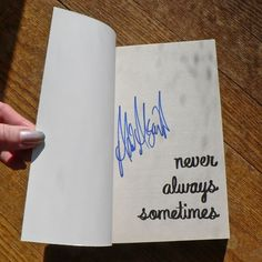 *SIGNED* Uncorrected Proof Never Always Sometimes by Adi Alsaid Paperback ARC