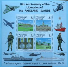 Falkland Islands Stamps 1992 10th Anniversary of Liberation MS660 Mint never hinged