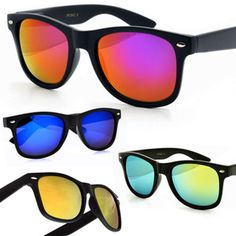 c75e28c196 WAYFARER Sunglasses - GOLD   PURPLE Mirror Lens - 5 Diff Colours  Available!! Sunglasses