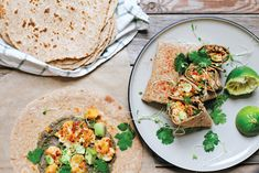 Recipe: A hearty vegetarian burrito made with smoky cauliflower, avocado and an easy black bean hummus.