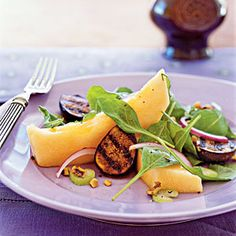 Fantastic Fig Recipes | Cantaloupe and Grilled Fig Salad | CookingLight.com