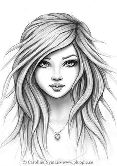 Girl mit fliegenden Haaren