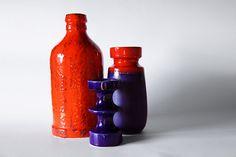Blue 1960s Candle Holder Steuler by 1001vintage on Etsy