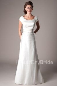 Simple and classic.  Give it a repin.  Available at www.latterdaybride.com