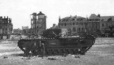 19 August 1942: The Dieppe Raid. A British Churchill tank...