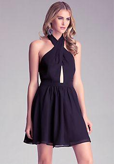 Peek-A-Boo Flare Dress - Totally fun and flirty dress