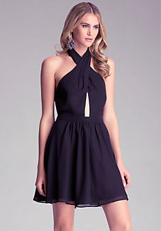 Peek-A-Boo Flare Dress - Totally fun and flirty dress