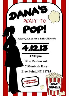 Shes ready to pop baby shower invitation with yellow flowers and shes ready to pop baby shower invitation with yellow flowers and silhouette of pregnant woman on gray new baby boy or girl baby shower ideas filmwisefo