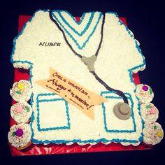 Pull apart Scrub suit cake/cupcakes #NikonCakes #customizedCakes #PullApartCake #ScrubSuit #Nurse