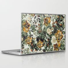 Rpe Floral Laptop & Ipad Skin by Riza Peker - MacBook Pro Retina