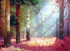 concept art and edits under 'navigation' Watercolor Landscape, Landscape Art, Landscape Paintings, Oil Paintings, Landscape Design, Art Environnemental, Grafiti, Wow Art, Environment Design