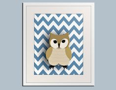 Owl nursery art for children. Woodland forest animals, friends & critters art for kids. Owl Art Print by WallFry Nursery Artwork, Owl Nursery, Woodland Nursery, Nursery Ideas, Modern Nursery Decor, Colorful Wall Art, Owl Print, Forest Friends, Baby Art