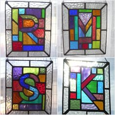 Initial Letter! Personalised Stained Glass A-Z Alphabet Suncatcher - pewtermoonsilver by pewtermoonsilver on Etsy https://www.etsy.com/listing/174226299/initial-letter-personalised-stained