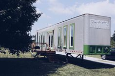 Wow tiny house made from a semi-trailer.  I always thought you could make a house out of one, now I know you can.