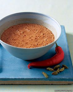 I have always wanted this recipe. Spiced Hot Chocolate (from the movie Chocolat)