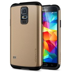 Galaxy S5 Case, Spigen Slim Armor Case for Galaxy S5 - Retail Packaging - Copper Gold (SGP10754):Amazon:Cell Phones & Accessories