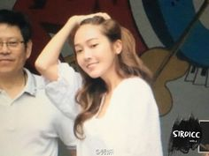 "Jessica Jung on the way to filming the chinese Show ""Happy Camp"""