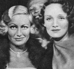 Joan Crawford & Marlene Dietrich, 1931.