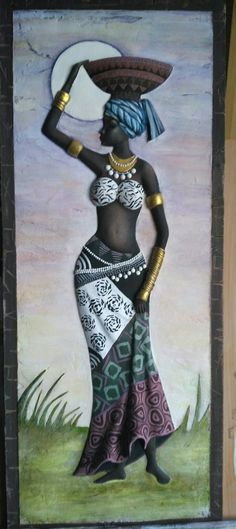 Black Girl Art, Black Women Art, Black Art, Afrique Art, African Art Paintings, African American Art, Mural Art, Tribal Art, Art Pictures