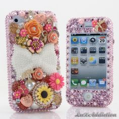 """Style 713 This Bling case can be handcrafted for iPhone 4/4S, 5, 5S, all Samsung Galaxy models (S3, S4, Note 2). The current price is $79.95 (Enter discount code: """"facebook102"""" for an additional 10% off during checkout)"""