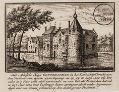 Kasteel Guntersteyn in 1661 te Breukelen voordat de Fransen het in 1672 verwoesten.