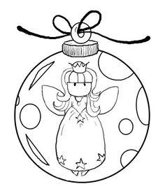 digi stamps free | Digital Doodling: Free Digital Stamp - Fairy Bauble (No 2 of 3)