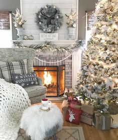 """Better not pout!"" ❤︎ those words of wisdom—and this totally dreamy space—from @homeonfernhill. Don't forget to tag your holiday photos using #BHGCelebrate, too!"