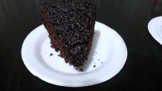 Porción de bizcocho de chocolate