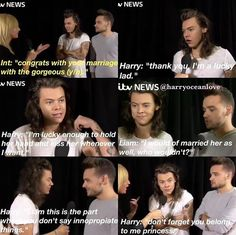 IMAGINE.......  You're married to Harry, but Lirry is being interviewed, and they're at it again...LOL.