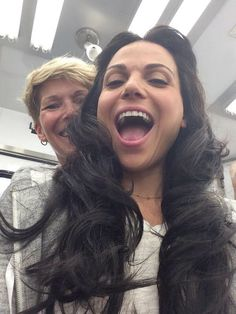 """Lana Parrilla: """"Look who popped in for a visit!!!... Hello, Young Regina!! And Deb in the background! #OnceUponATime #EvilRegals"""""""