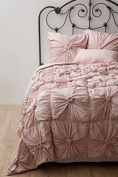 Anthro Rosette bedding in Tuscan Pink - such a pretty option for big girl bedding