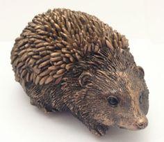 Resin Bronze Baby Hedgehog Garden Ornament