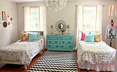 I'd love this bedroom for myself....at 40! lol <3 Teen Girl Room Reveal, The Little Farm Diary - Delineate Your Dwelling