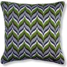 Jonathan Adler Green Bargello Flame Pillow can spice up any room.