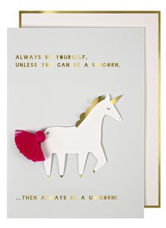 Meri Meri Unicorn Card @TwinsNextDoor