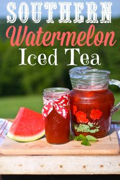Basically, you make a pitcher of iced tea (minus two cups) and add two cups of pureed watermelon from the blender (that's about 3 cups of chopped watermelon).