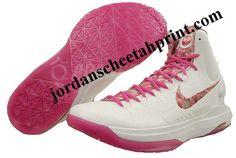 Nike KD V Premium Metallic Summit White Pinkfire II 598601 100