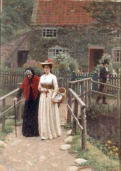 A Wistful Glance ~ Edmund Blair Leighton ~ (English: 1852-1922)