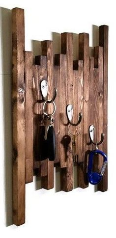 Wooden Wall Art Key Holder
