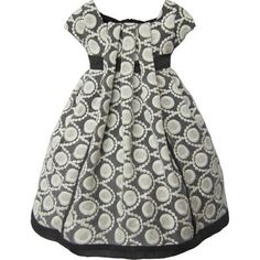 (CLICK IMAGE TWICE FOR DETAILS AND PRICING) Isobella and Chloe Gray and Ivory Eyelet. Deep gray and ivory eyelet dress with pleated front and sash and hem in dark gray. See More Dresses at http://www.ourgreatshop.com/Dresses-C195.aspx