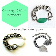 CLICK PIC: Chain Bracelets Etsy