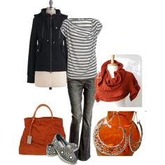 orange you ready for fall? by cswope on Polyvore