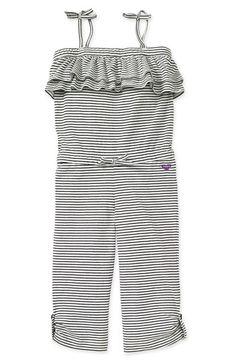 Roxy Stripe Jumpsuit (Little Girls) | Nordstrom