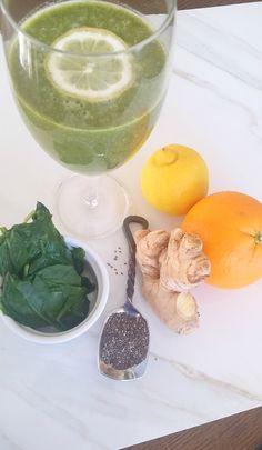 Green Citrus Ginger Juice recipe #detox #cleanse