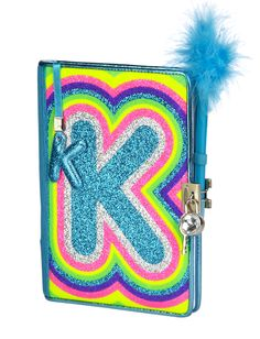 Initial Rainbow Glitter Journal  