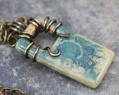 Stoneware Clay Necklace - Through The Window