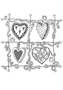 complicolor hearts coloring page printable pages and coloring books for grown ups at