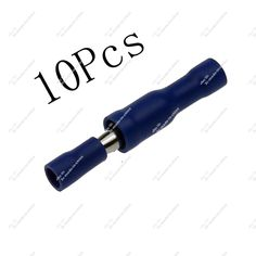 10pcs Blue Insulated Bullet Spade Butt 16~14AWG Wire Crimp Terminals Lugs Set