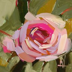 Pink Rose no. 14 Art Print by Angela Moulton 8 x 8 inch Acrylic Painting Flowers, Abstract Flowers, Contemporary Abstract Art, Rose Art, Arte Floral, Hanging Art, Painting Techniques, Painting Inspiration, Flower Art